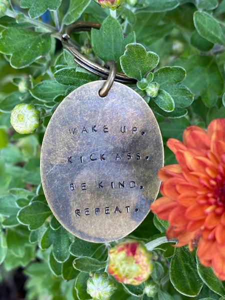 Hand Stamped Keychains made in USA