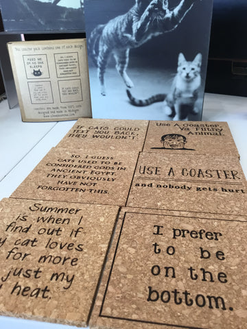 Funny cork coasters made in USA