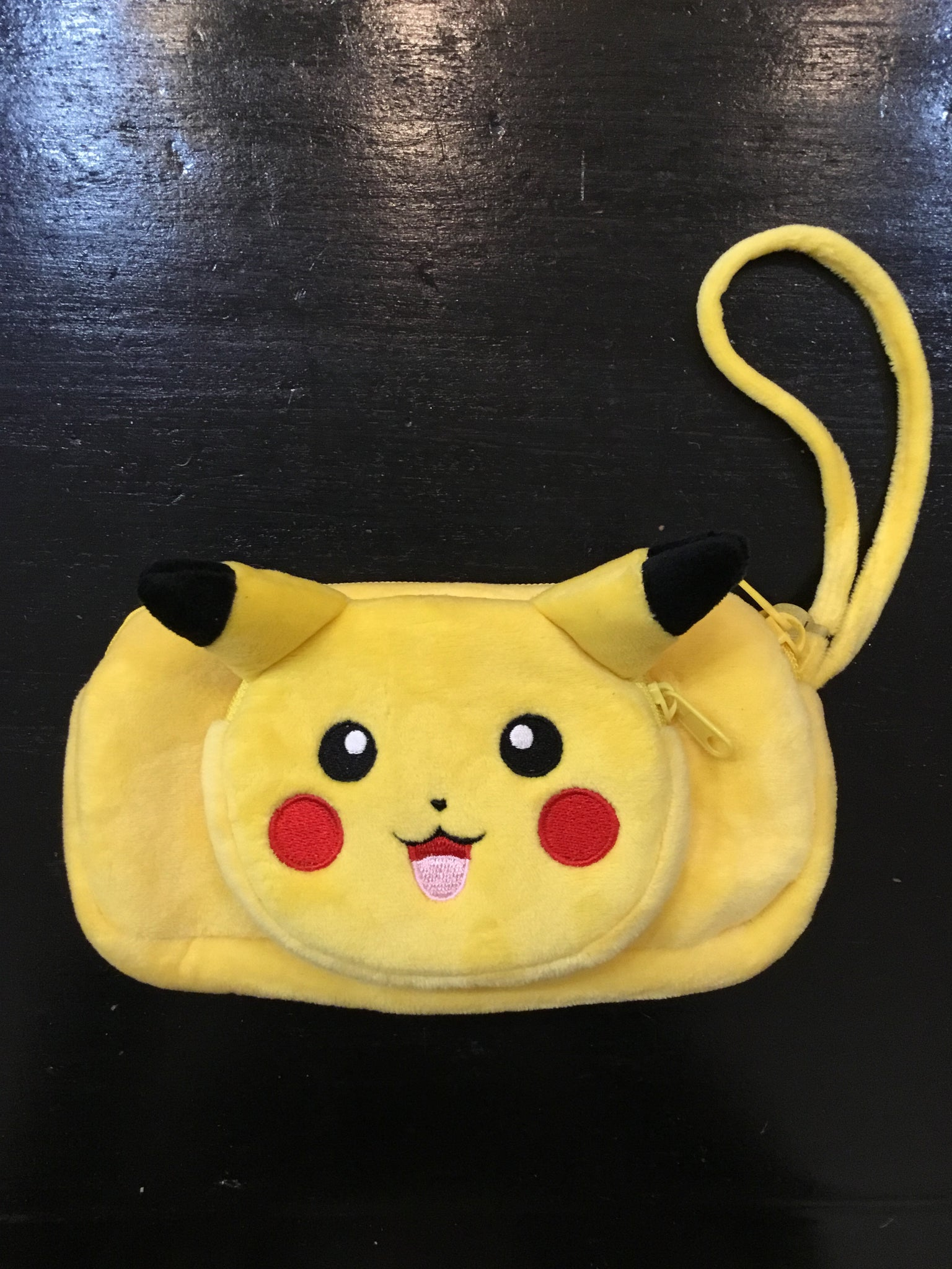 Cute Triple zipper Pikachu Bag with wristlet