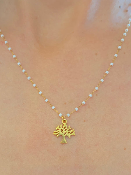 Gold Tree of Life Charm Necklace