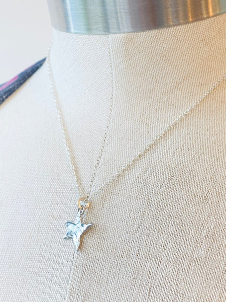 Star Charm on Sterling Silver Necklace