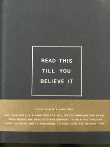 Read this till you believe it...book