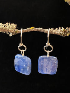 Square Kyanite Drop Earrings Made in PDX
