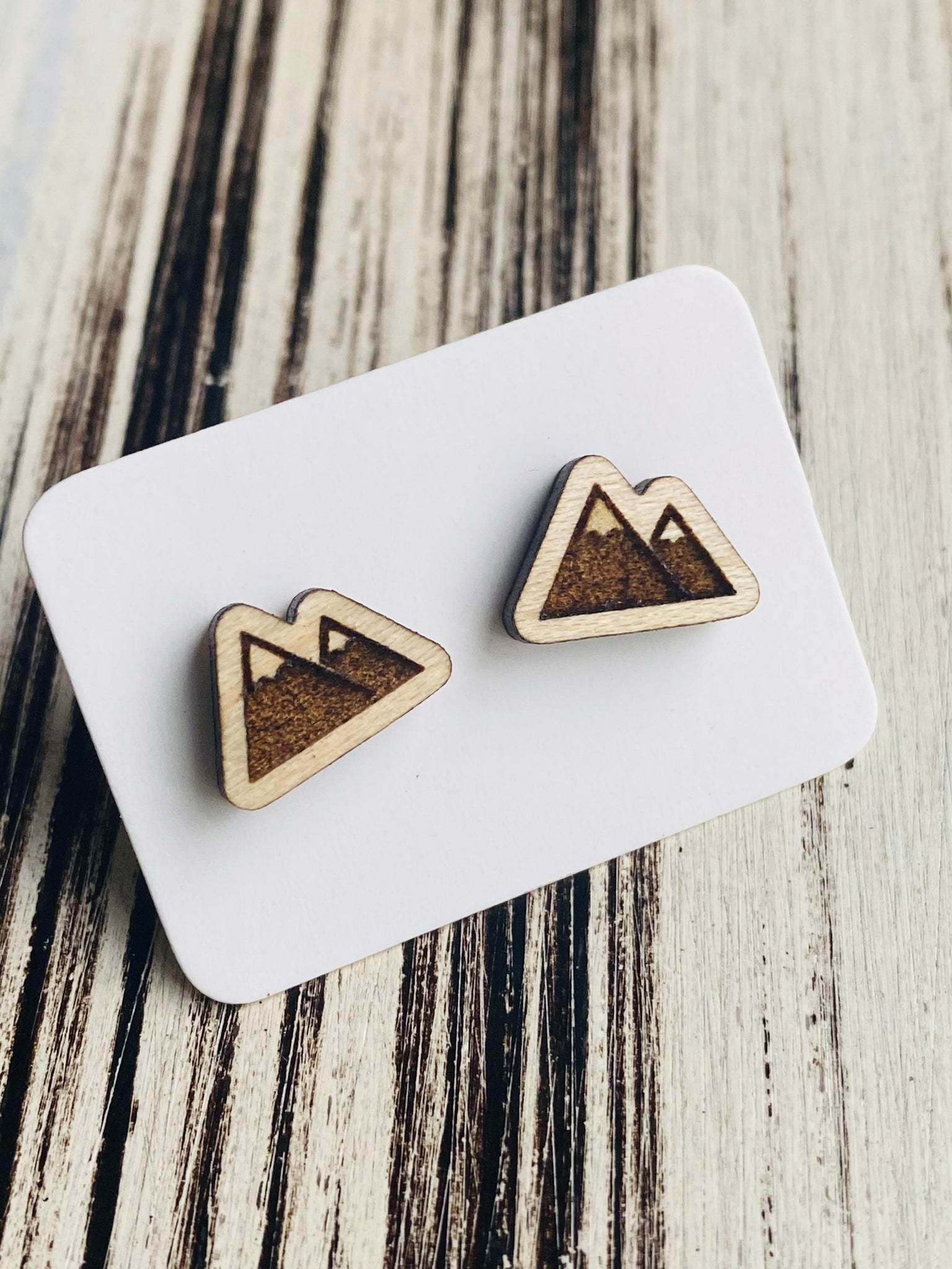 Beautiful Mountain Stud Earrings Handmade In USA