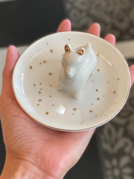 Ceramic Llama Trinket Tray/ Jewelry Holder