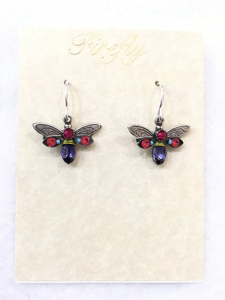 Crystal Firefly Earrings