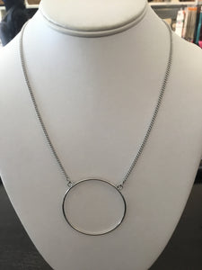Circle on chain necklace