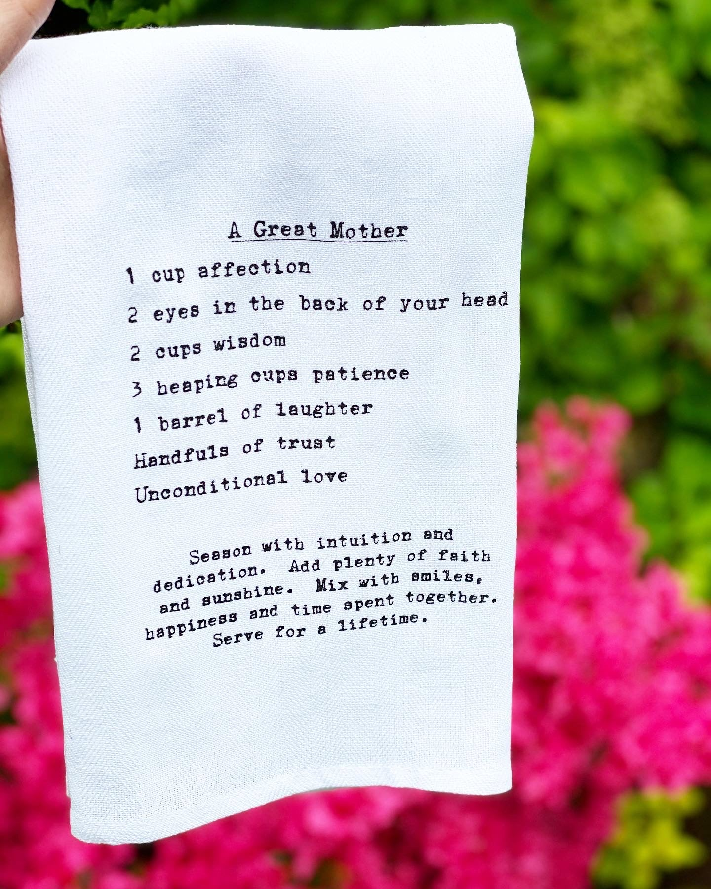 A great mother dish towels