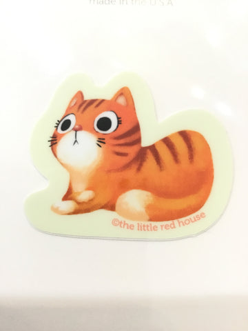 Orange Cat Vinyl Sticker