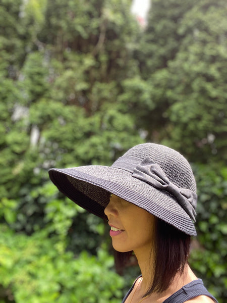 Fashion Straw Sun Hat with Bow