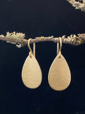 Gold Teardrop Earrings Made in PDX