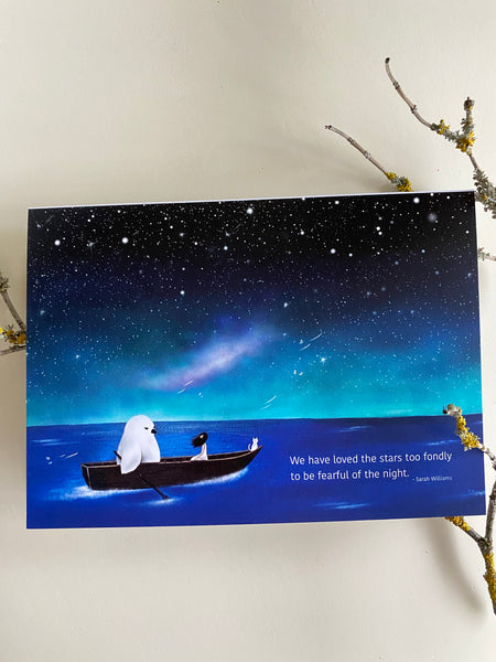 We have loved the stars too fondly Greeting Card