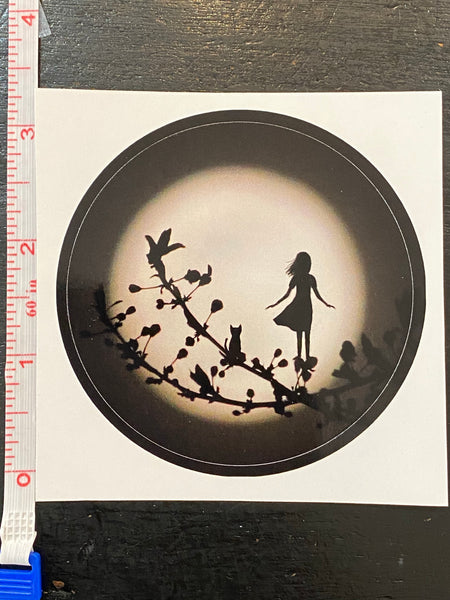 "Stay Wild Moon Child : 3"" Round Sticker"