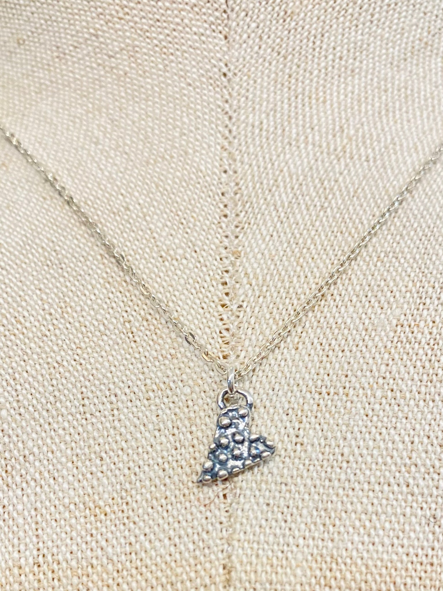 Dainty Heart Charm on Sterling Silver Necklace