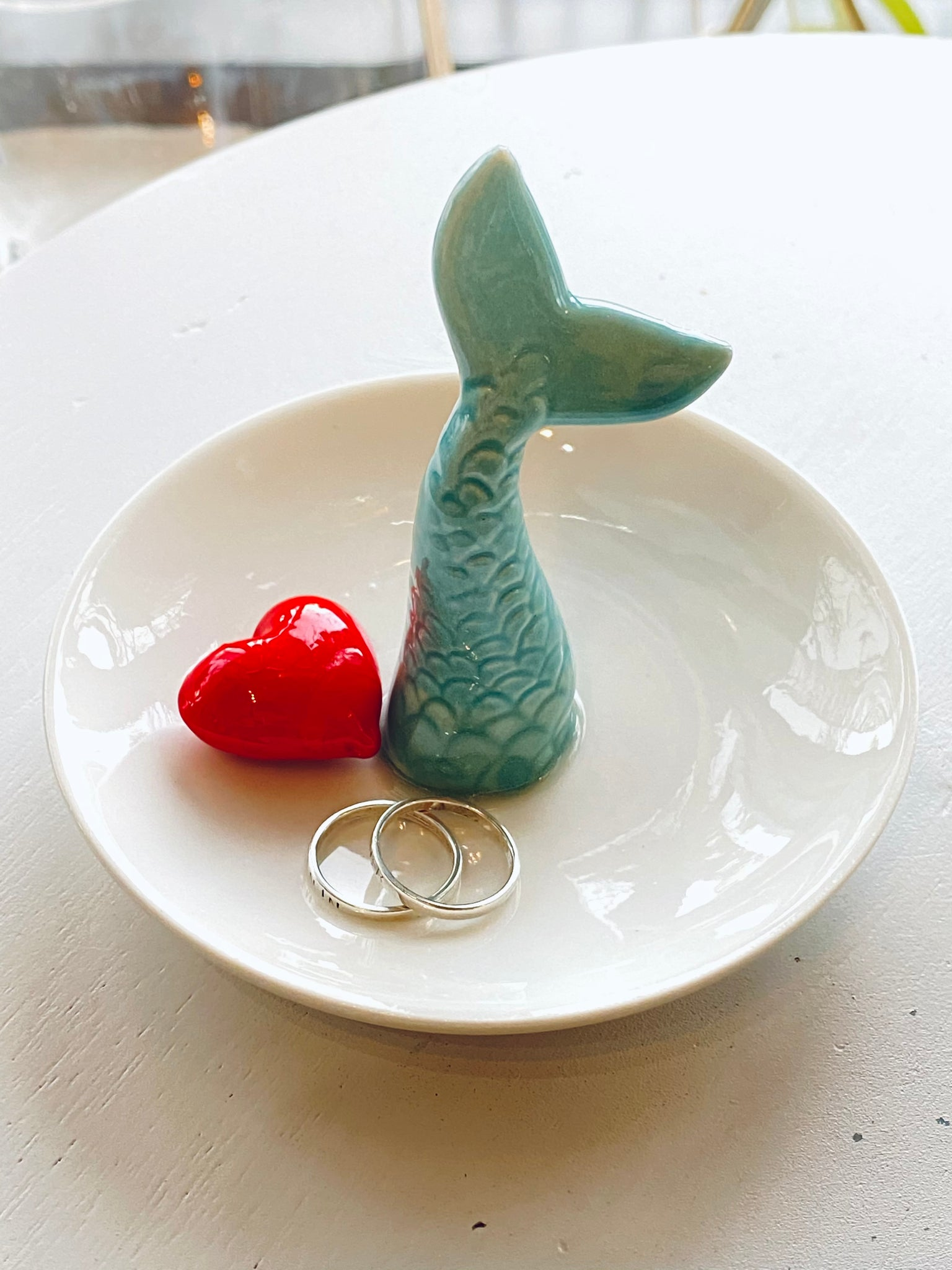 Ceramic Mermaid Tail Ring Tray Holder Dish