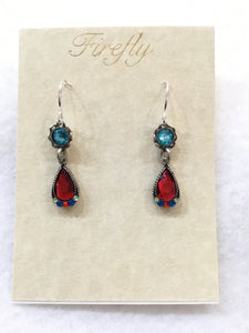 Elizabeth Small Drop Mosaic Crystal Earrings