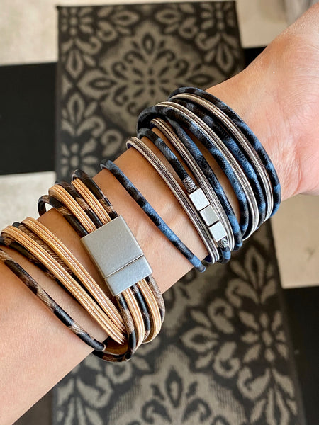 Double Wrap Vegan Leather Bracelet