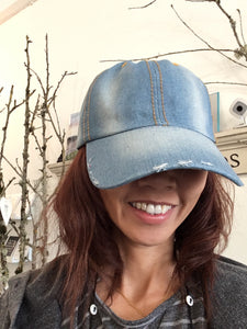 Denim cap hat, 100% cotton