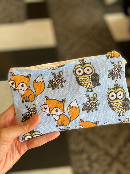 Handmade Make Up/ Pencil Pouch with Cute Print