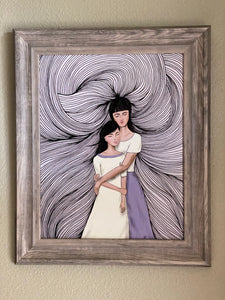We Are Born Of Love Art Print By Nina Hand