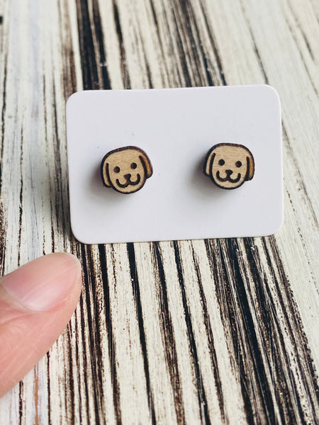 Cute Dog Stud Earrings Handmade In USA