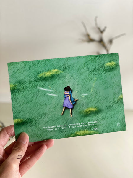 The Field1 Rumi Greeting Card  made in PDX