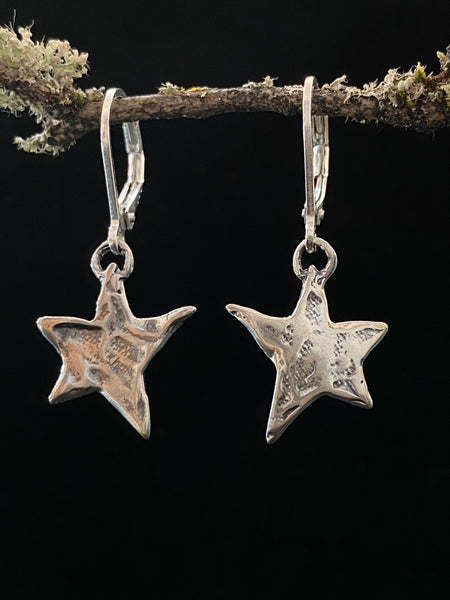 Silver Star Shape Earrings Made in PDX