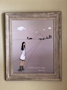 We Must Go See Art Print By Nina Hand