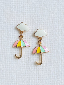 Umbrella on Cloud Dangle Earrings