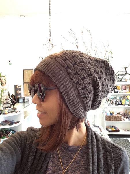 Double-Sided Slouch Beanie/Neck Warmer