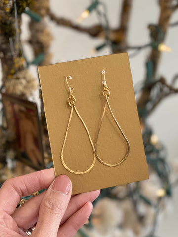 Hand-Wired Hoop Gold Earrings: Made In PDX