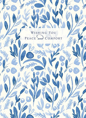 Wishing You Peace and Comfort Sympathy Card