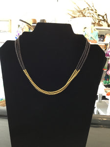 Handmade brass beads necklace