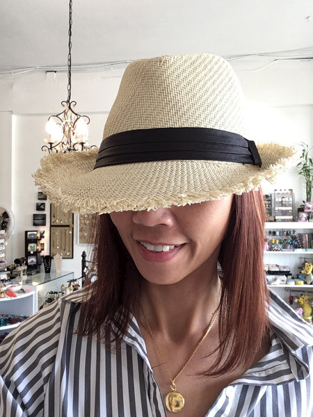 Summer short brim fedora hat