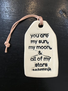 Quote Ceramic Wall Tag