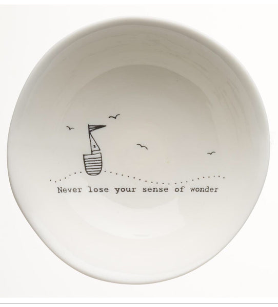 Trinket Bowl w/words