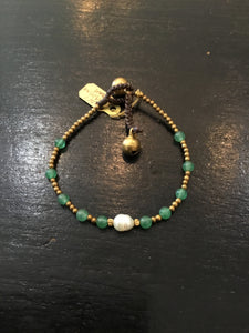 Handmade beads bracelet with pearl
