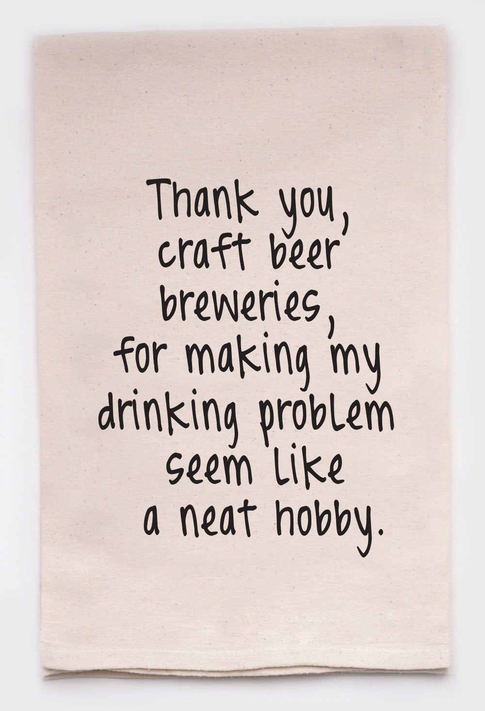 Thank you craft beer dish towel made in USA