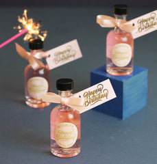 Personalised Mini Gin Bottles For Birthday Party Favours