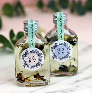Botanical Bath Oil Wedding Favours Personalised.
