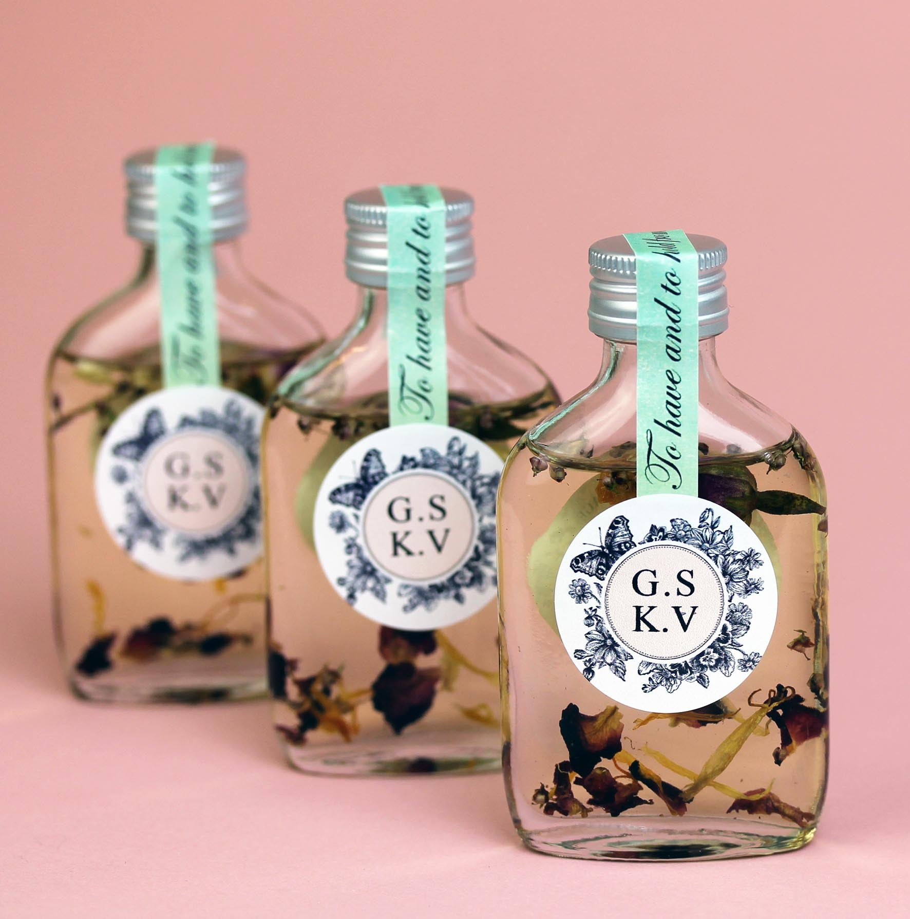 Botanical Bath Oil Wedding Favours Personalised. – Hearth and Heritage