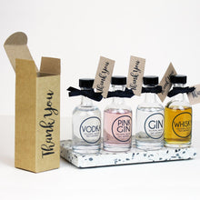 'Thank You' Bottle of Gin or Whisky in Kraft Box with Tag