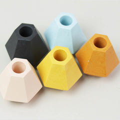 Jesmonite Hexagonal Candle Holder in Two Sizes
