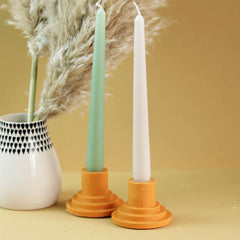 Coloured Tiered Jesmonite Candlestick