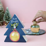 Bubble Bath Bauble with Gold Shimmer