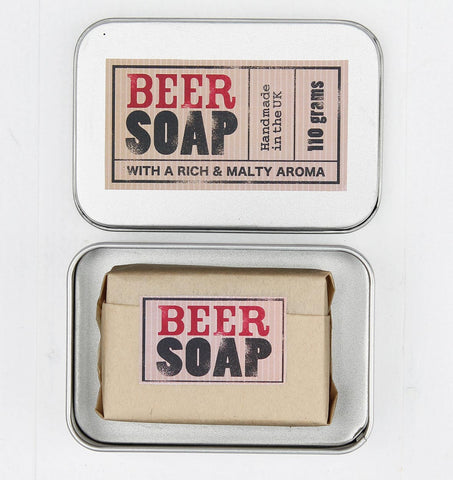 Beer Scented Natural Soap in Travel Tin (w)