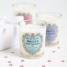 Baby Shower Personalised Candles minimum order 10