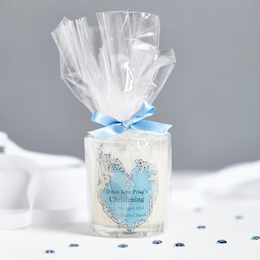 Christening Personalised Candles  for Party Favours.