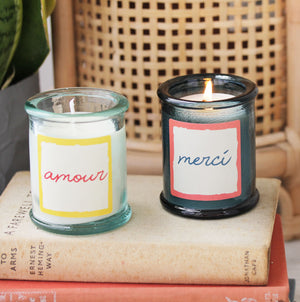 Recycled Glass French Scented Candle