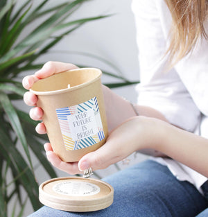 Eco Friendly Scented Candles With Gift Message.
